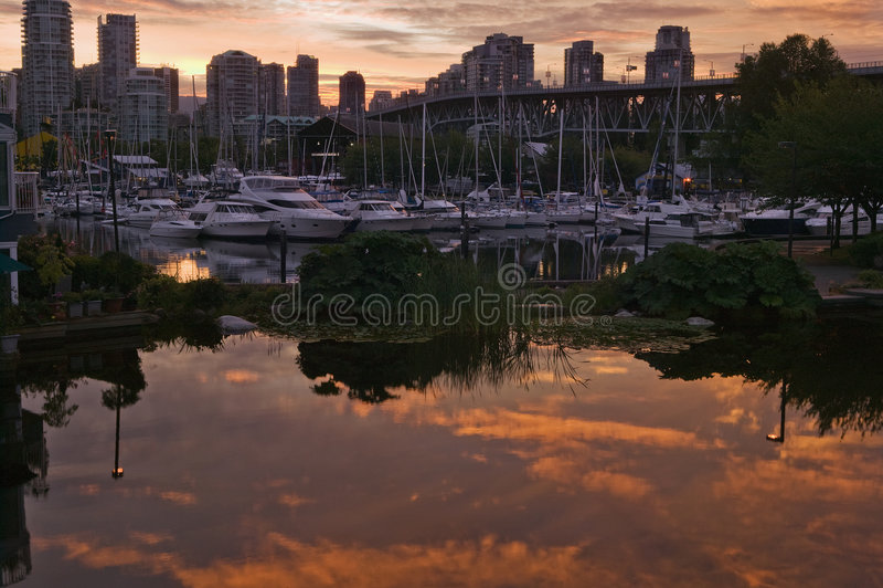 Sunrise In Vancouver Stock Photo