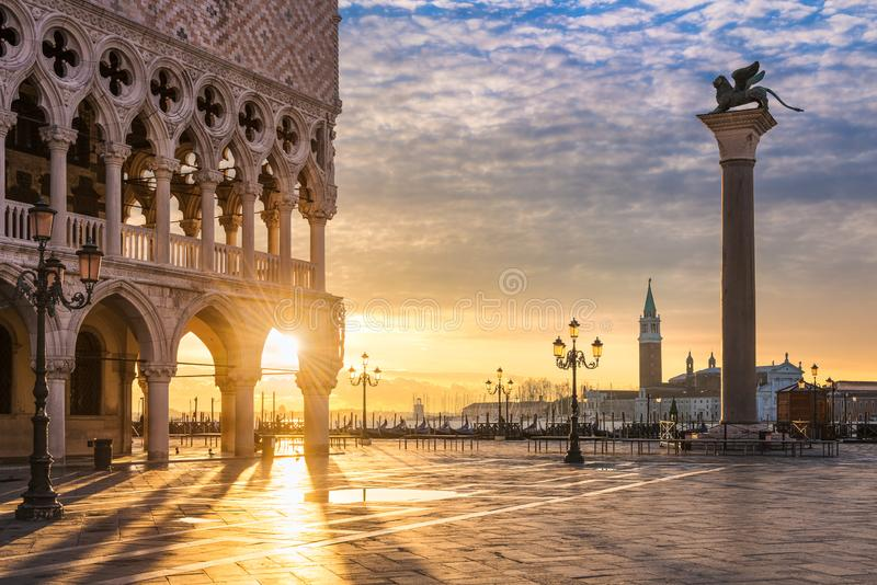 Sunrise in Venice, Italy stock photos