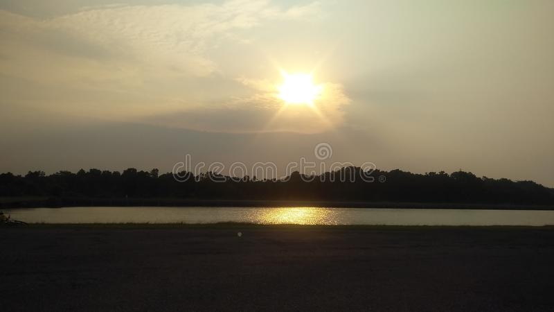 Sunrise is very beautiful view stock photo
