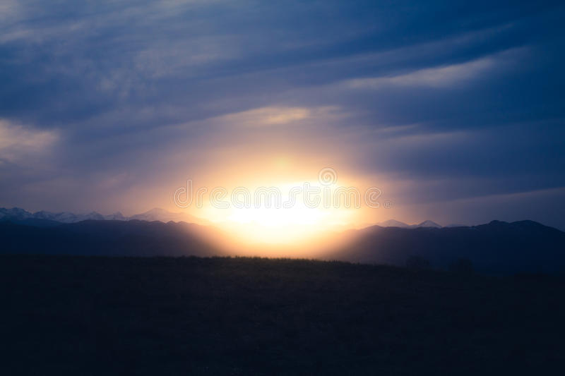 Sunrise View With Mountain Free Public Domain Cc0 Image
