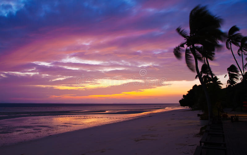 Sunrise view of PhiPhi island royalty free stock photography