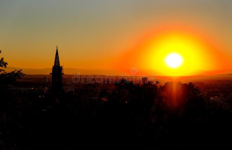 Sunrise on Village royalty free stock image