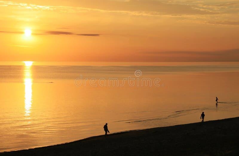 Download Sunrise walk stock photo. Image of dusk, lake, baltic - 32823806