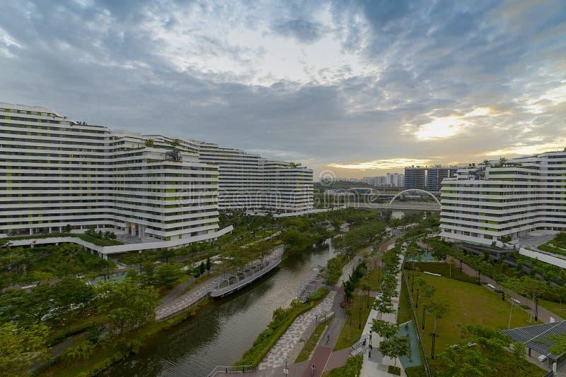 Sunrise Waterway. Sunrise at Punggol Waterway, Singapore stock images