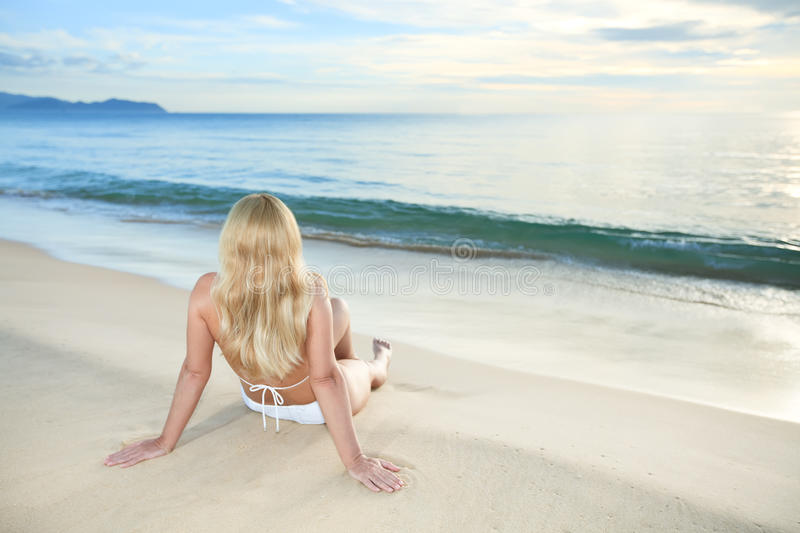Download Sunrise woman stock photo. Image of miami, adults, relaxing - 10729016