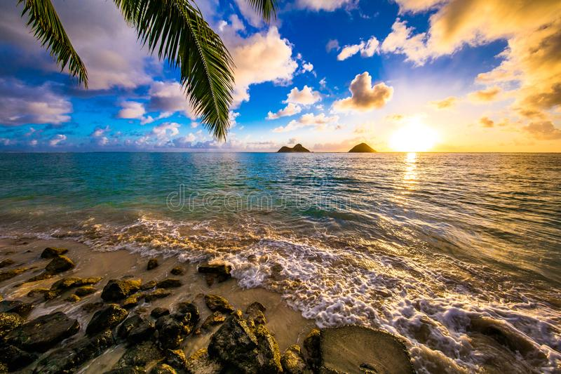 Lanikai Beach Sunrise stock photography