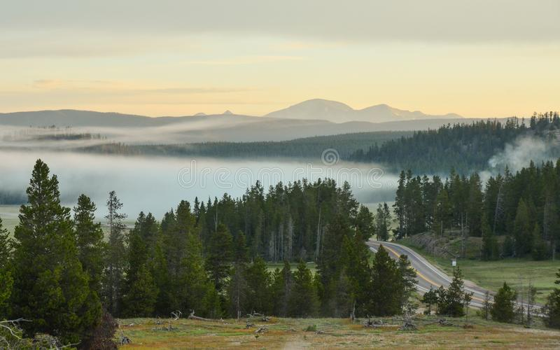 Sunrise in Yellowstone National Park royalty free stock images