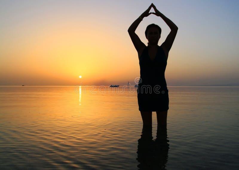 Sunrise Yoga Stock Image