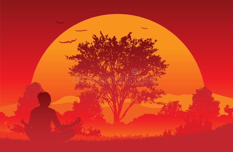 Sunrise Yoga stock images