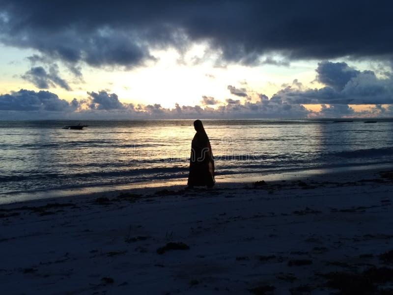 Sunrise in Zanzibar stock images