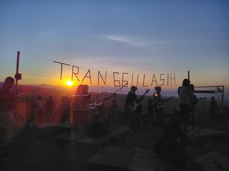 Sunriseblues foto de archivo libre de regalías