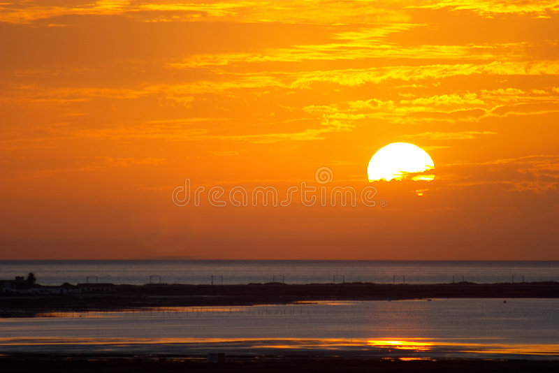 Sunrises and Sunset stock photography