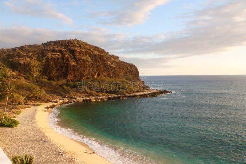 Sunrising i Hawaii fotografering för bildbyråer