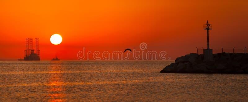 Sunrising panorama royalty free stock photo