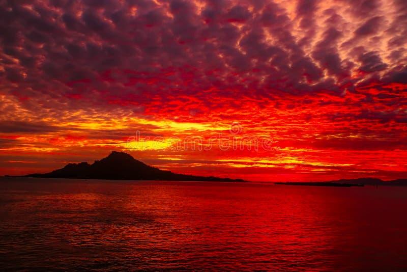 Sunrist in Indonesië stock afbeelding