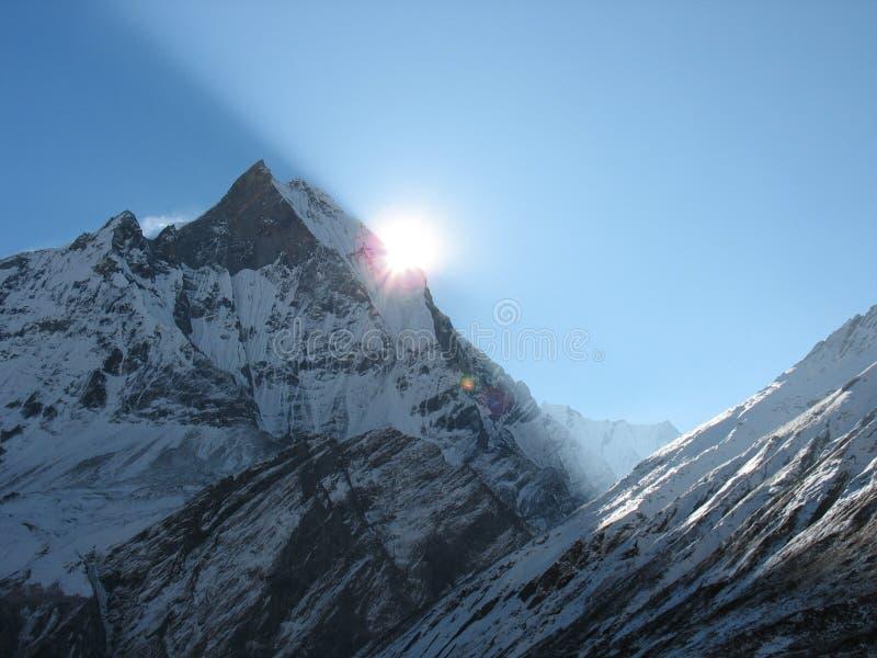 Sunrize all'Himalaya immagine stock libera da diritti