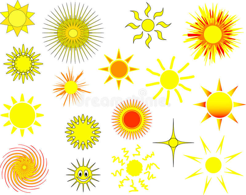 Download Suns stock vector. Image of variety, various, element - 1855494