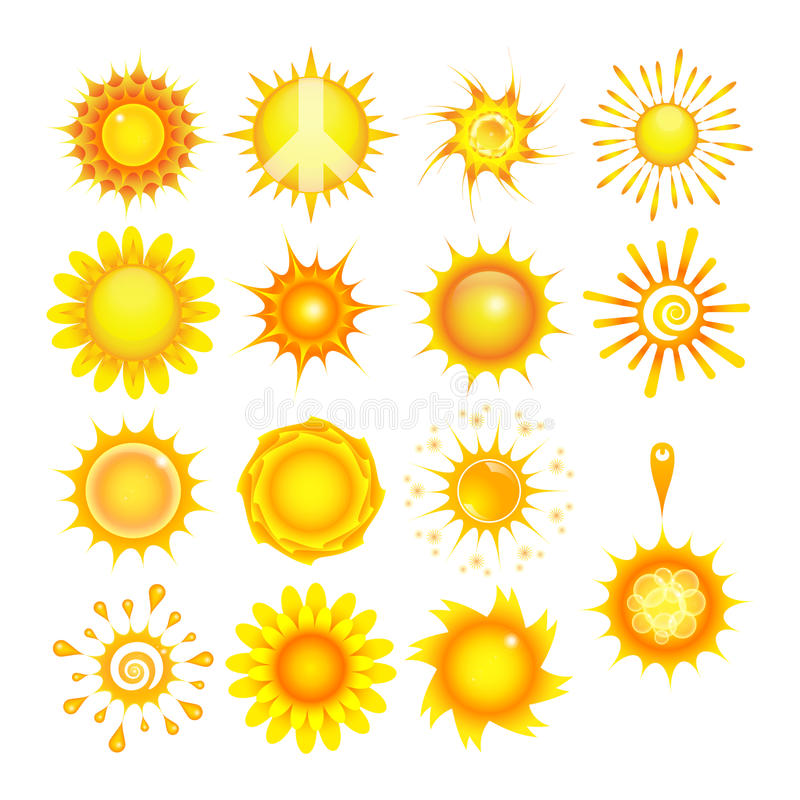 Download Suns collection stock vector. Illustration of element - 20857398