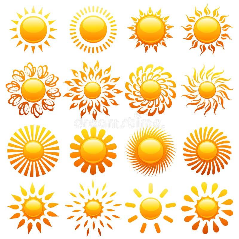 Suns. Elements for design. vector illustration