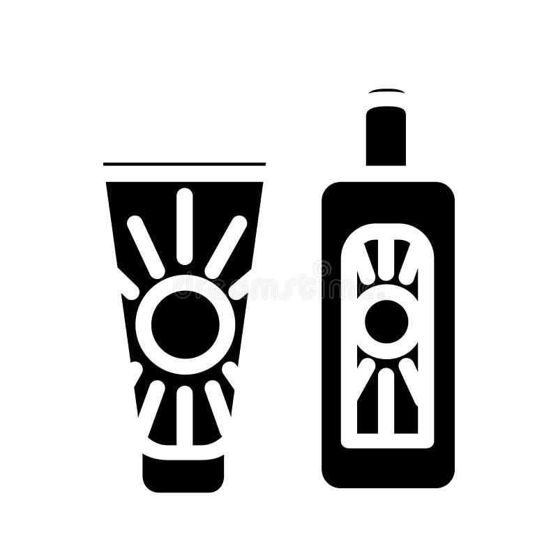Sunscreen śmietanki wektor ilustracji