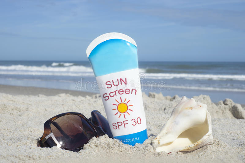 sunscreen fotografia stock