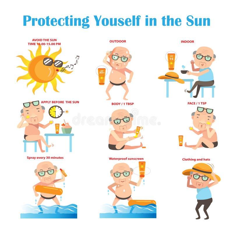 Sunscreen vector illustration