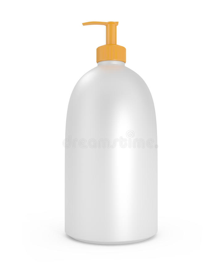 Sunscreen Suntan Lotion on white stock illustration