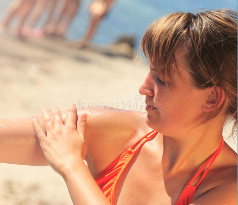 Sunscreen royalty free stock images