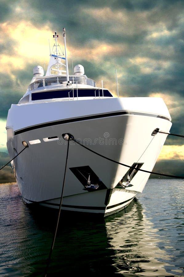 Sunseeker Yacht an DIBS stockbilder