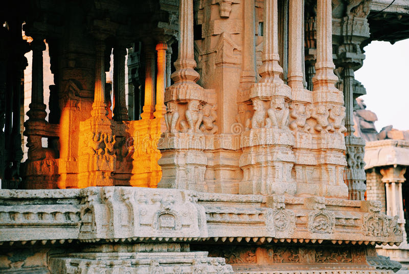 Sunset—Vittala Temple in Hampi. Vittala Temple in Hampi, India stock photos
