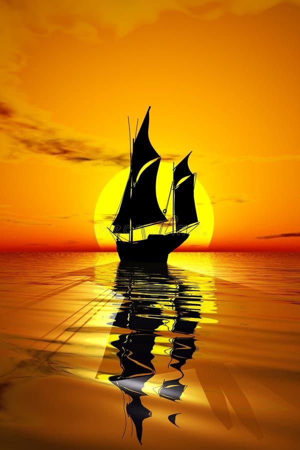 sunset żaglówka