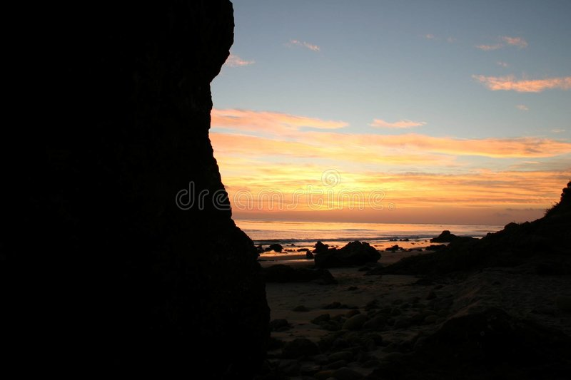 Download At Sunset stock photo. Image of ocean, view, beach, love - 105490