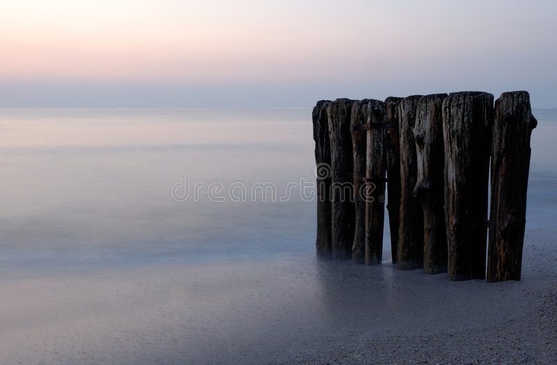 Sunset. At the beach on the island Sylt, germany stock image