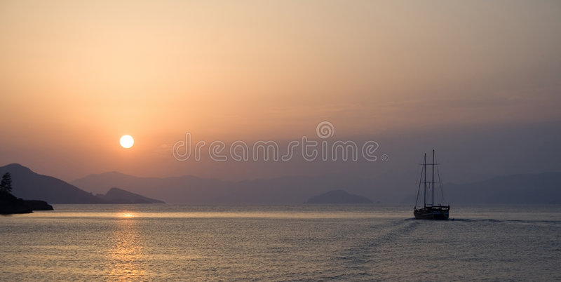 On A Sunset Royalty Free Stock Photography