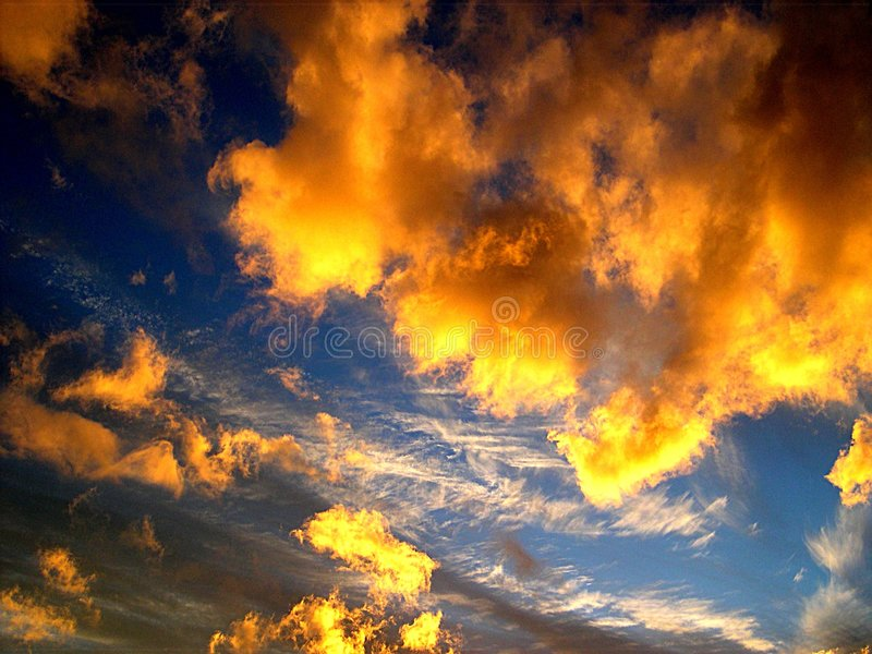 Download Sunset stock image. Image of nature, colours, yellow, blue - 151937