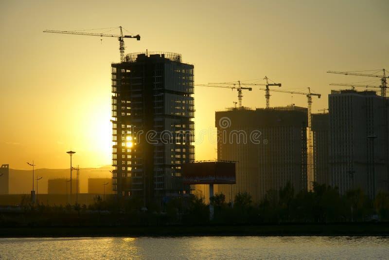 Download Sunset stock photo. Image of orange, building, buildings - 16865294