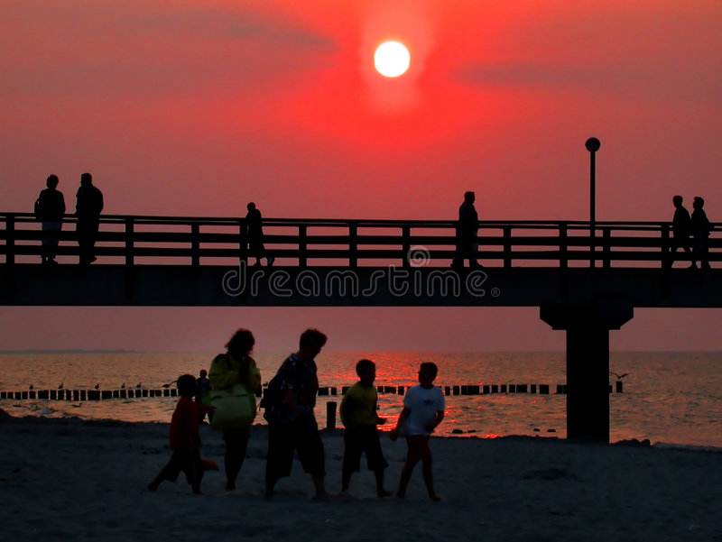 Download Sunset stock photo. Image of late, beach, sunset, travel - 178666