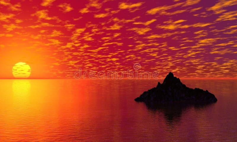 Download Sunset stock illustration. Illustration of nature, island - 2311931