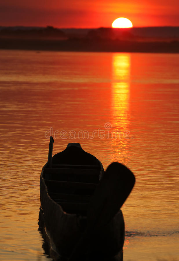 Download Sunset and pirogue stock photo. Image of abstract, backdrop - 23204692