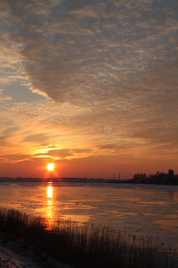 Download Sunset stock photo. Image of nature, scenic, winter, water - 23622724