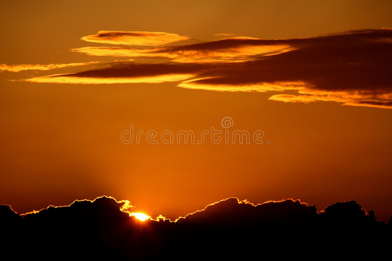 Download Sunset stock image. Image of sunset, clouds, dawn, atmosphere - 2535177