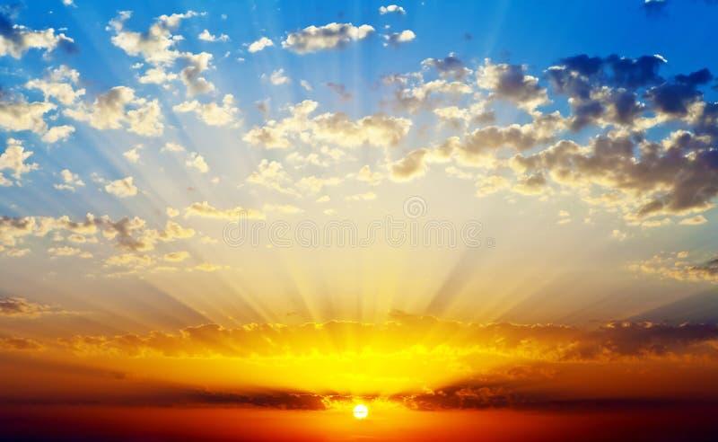 Download Sunset stock image. Image of summer, evening, dusk, weather - 26868431
