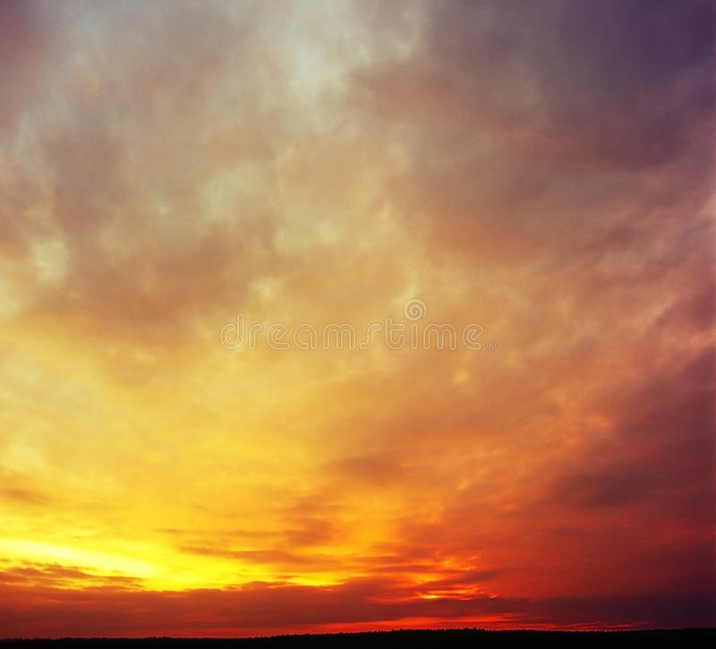 Download Sunset. stock photo. Image of gold, backgrounds, heaven - 27069286