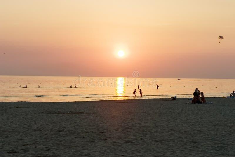 Download Sunset stock image. Image of sand, people, walking, dark - 271445