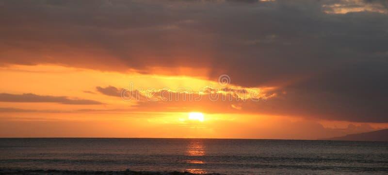 Sunset. At the beach stock photo