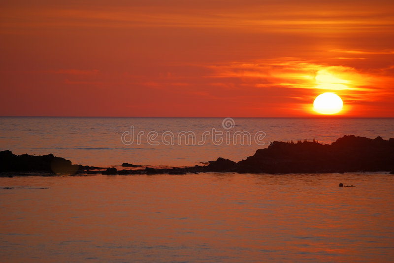 Sunset. stock images