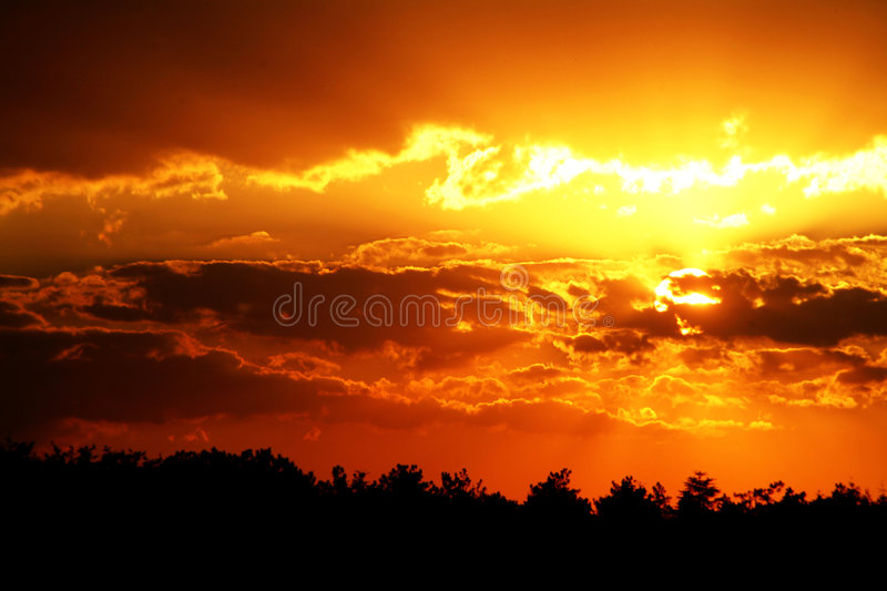 Sunset stock image