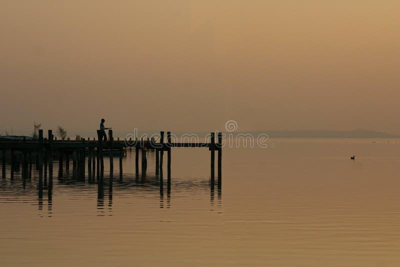 Download Sunset stock image. Image of childhood, silence, free, lake - 360175
