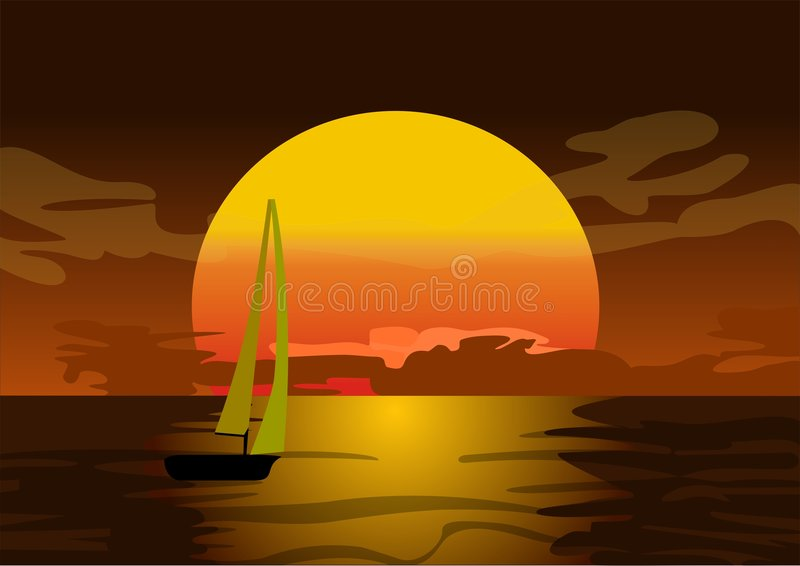 Download Sunset stock vector. Image of recovery, summertime, harmony - 3838977