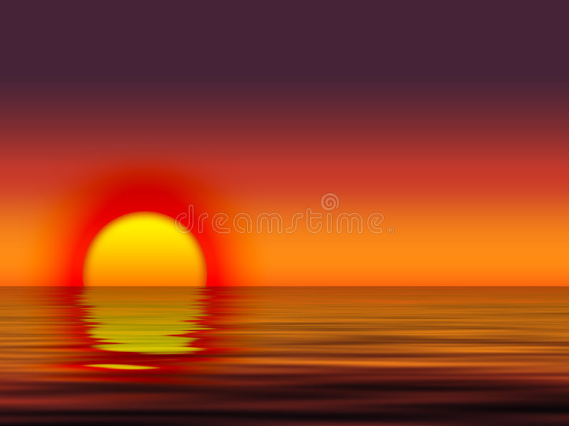 Download Sunset 4 stock illustration. Image of water, sunset, reflection - 130657